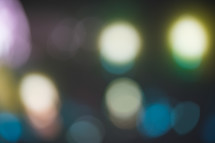 blurry bokeh lights background