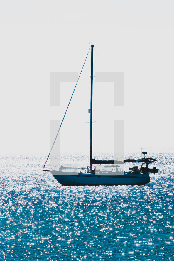 sailing on the water