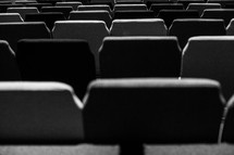 rows of auditorium seats