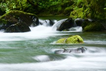 flowing water in a river