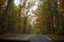 rural country road in fall