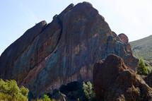 striated rock peak