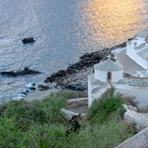 Church along a shore