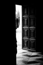 open door to a cathedral