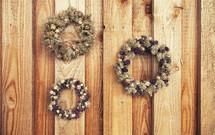 dried flower wreaths