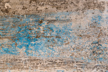 blue and tan weathered wall