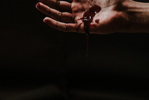 bleeding hand of Christ