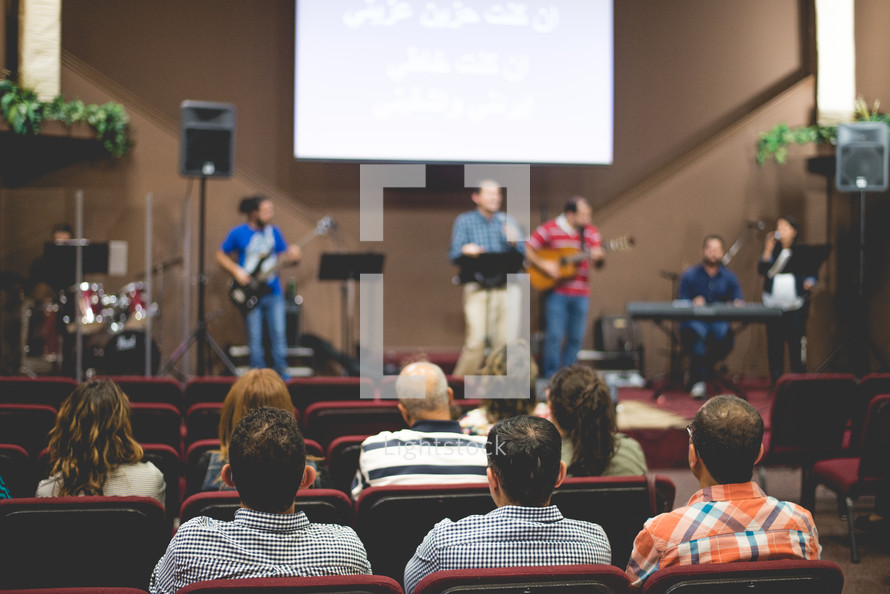 worship leaders performing on stage