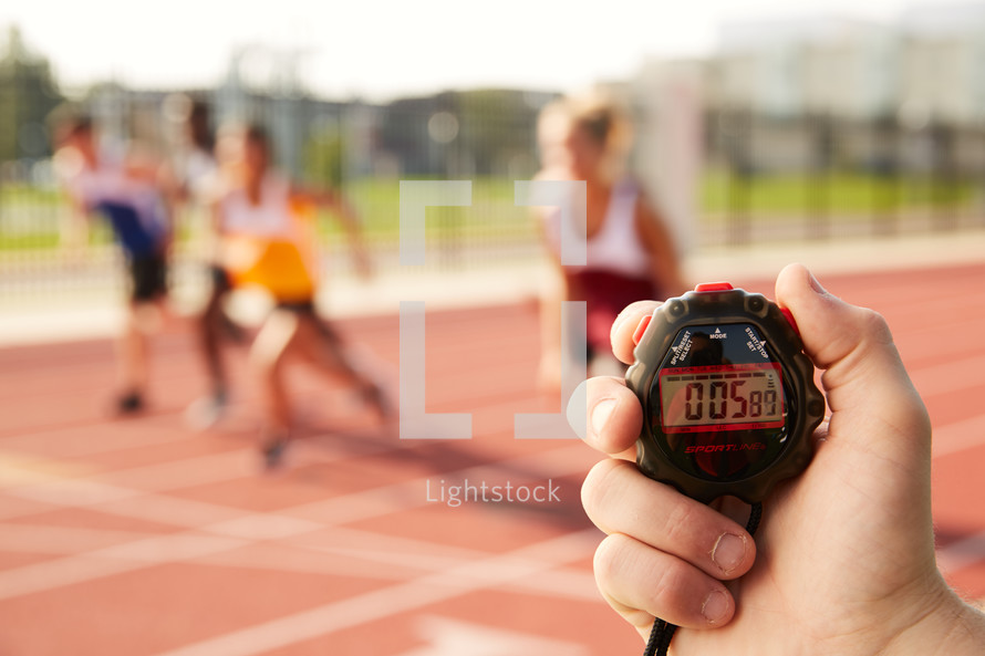 timing a race with a stopwatch