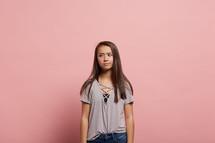 unsure teen girl