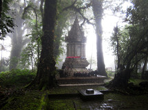 Buddhist prayer altar