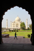 Decorative entrance to the Taj Mahal