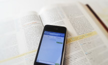I love you text message on a Bible