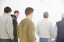 A group of men walking