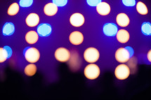 defocused stage lights.