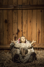 nativity baby Jesus in a manger
