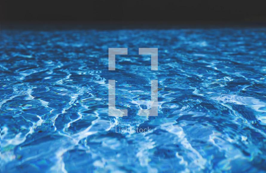 Waves in pool water.