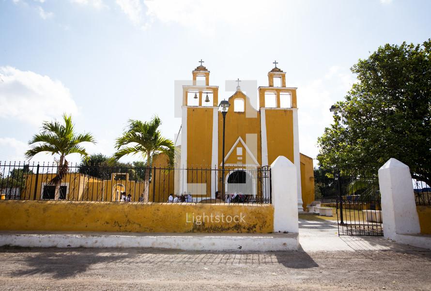 yellow church