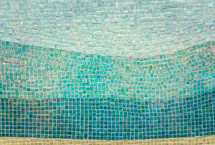 teal and turquoise tile mosaic