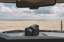 camera on a dashboard