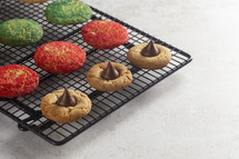 baking sheet of Christmas sugar cookies