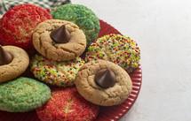 plate of Christmas sugar cookies