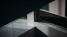 glass railing on a balcony