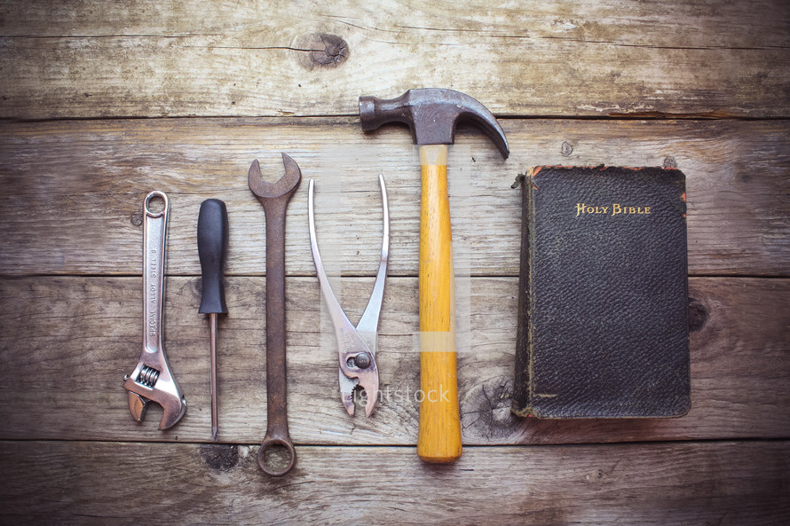 tools and a Bible