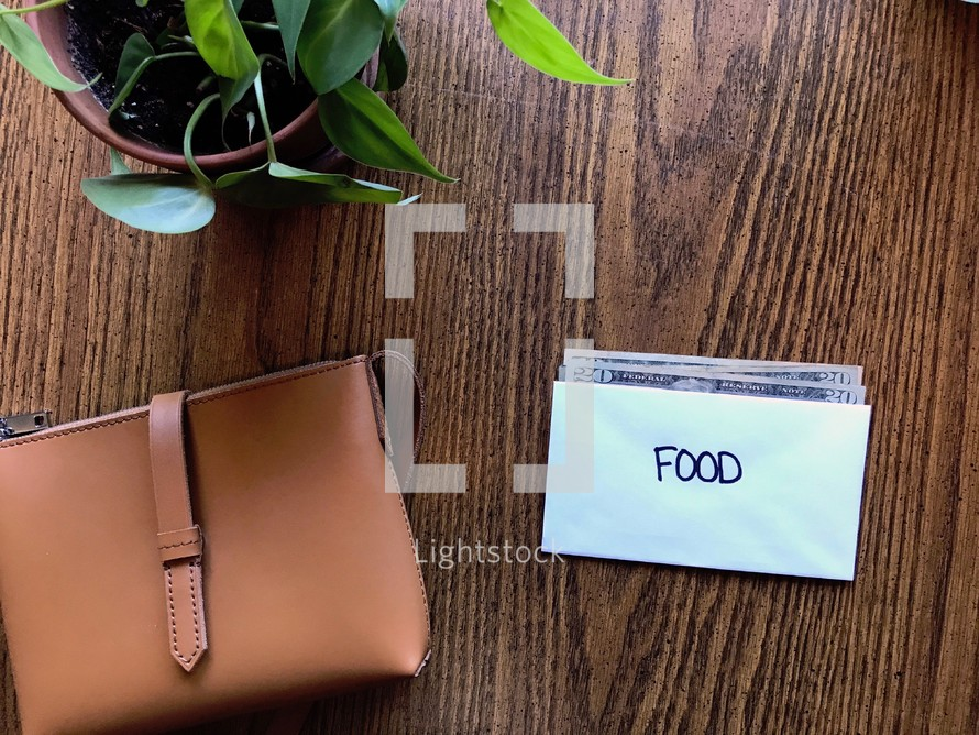 budgeting with cash - food envelope