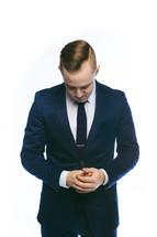 businessman in prayer