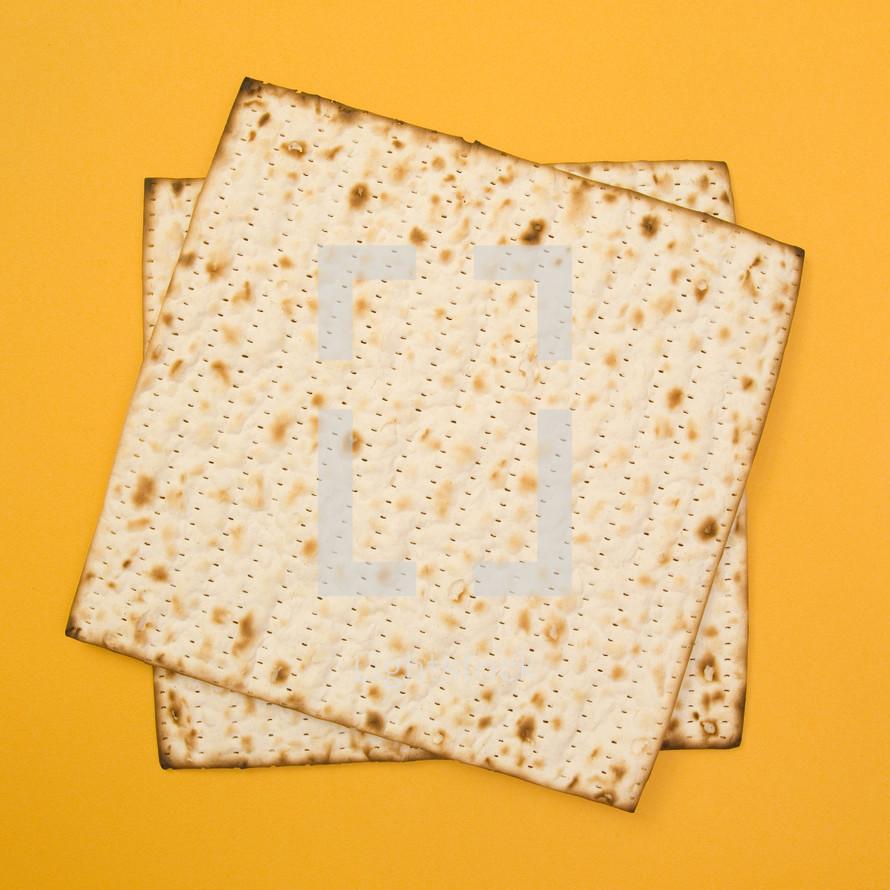 crackers on yellow