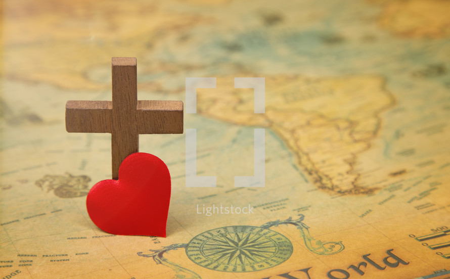 For God so loved the world - A Cross on a map