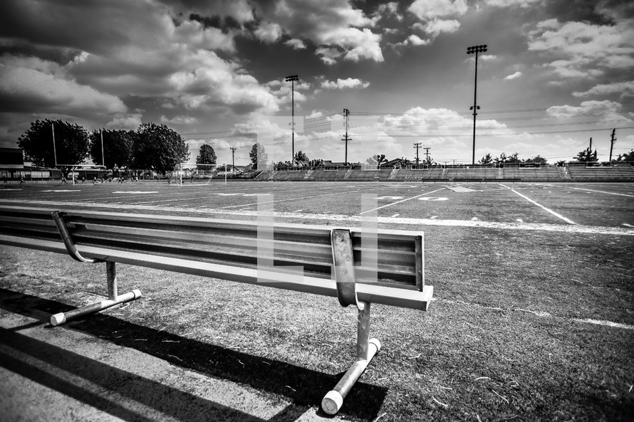 bench on the side lines