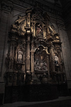 statues in a cathedral