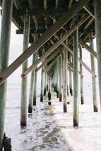 under a pier