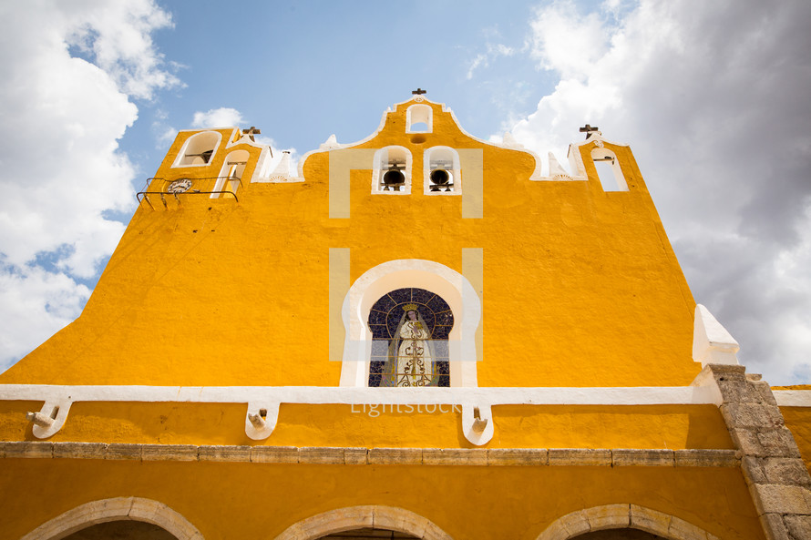 yellow church exterior