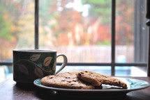 hot cocoa and warm cookies