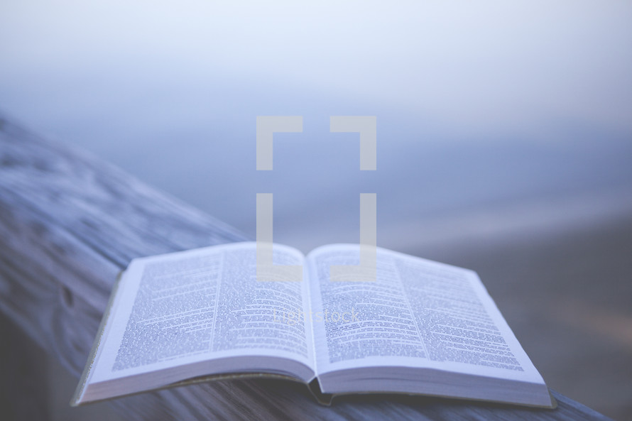 Bible outdoors with Copy Space