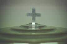 cross on a communion tray
