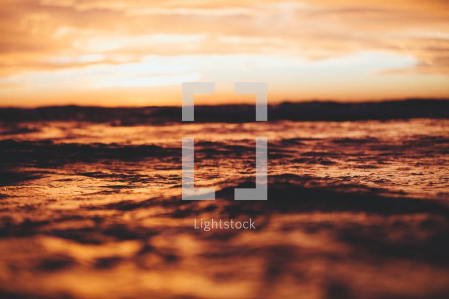 ocean water at dusk
