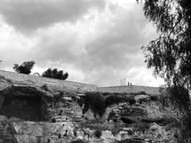Golgotha, the place of the skull, outside of Jerusalem in Israel.