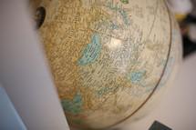 Mongolia on a Globe