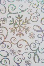 sparkling snowflake pattern