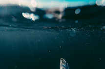 foot under water