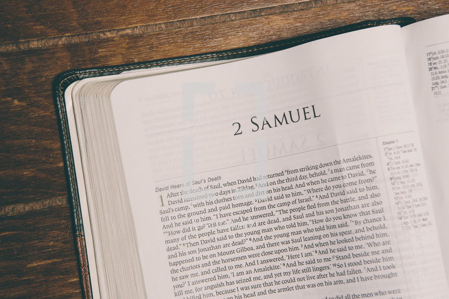 Bible opened to 2 Samuel