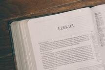 Bible opened to Ezekiel