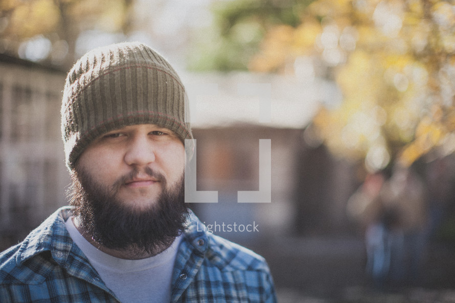 man with a thick beard