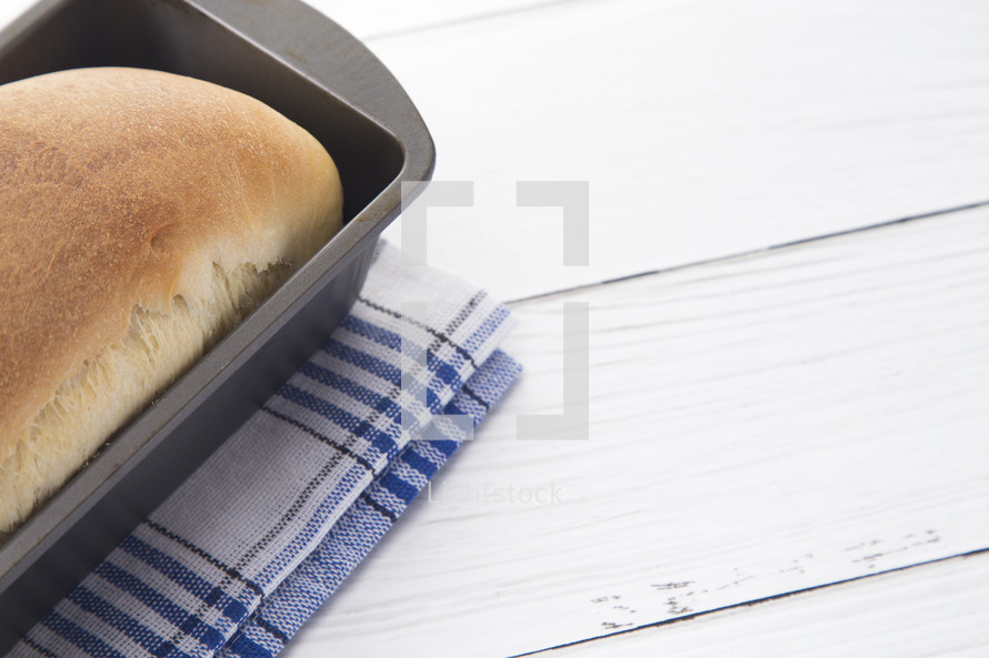 bread in a pan