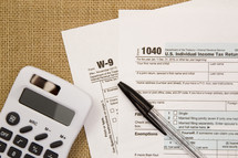 calculator on tax forms