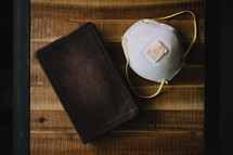 Bible and mask
